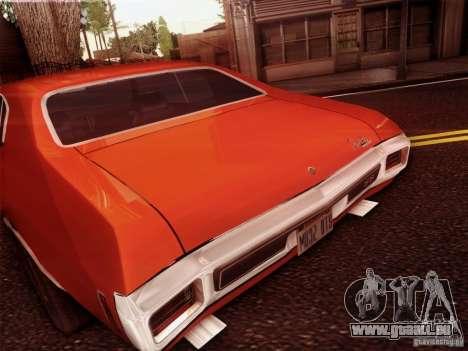 Chevy Chevelle SS 1970 für GTA San Andreas Rückansicht