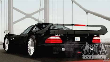 Mercedes-Benz CLK GTR Race Road Version Stock für GTA San Andreas linke Ansicht