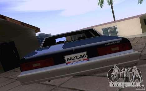 Chevrolet Caprice Clasico für GTA San Andreas rechten Ansicht