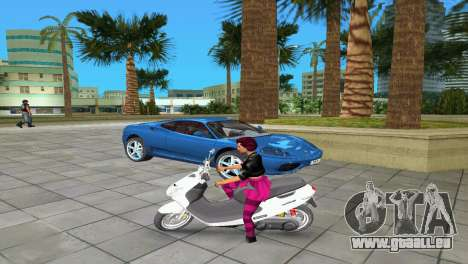 Suzuki Address 110 Custom Ver.1.3 für GTA Vice City linke Ansicht