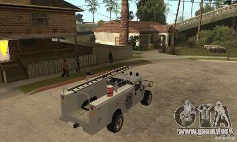 Hummer H1 Utility Truck pour GTA San Andreas vue de droite