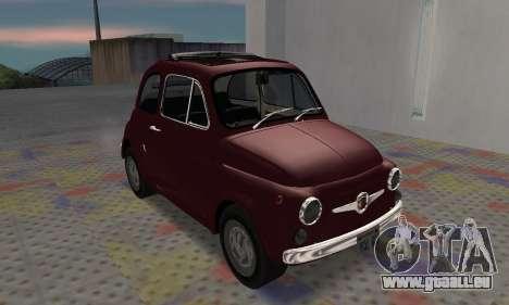 Fiat Abarth 595 SS 1968 pour GTA San Andreas laissé vue