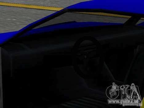 Infernus v 1.2 pour GTA San Andreas vue de dessus