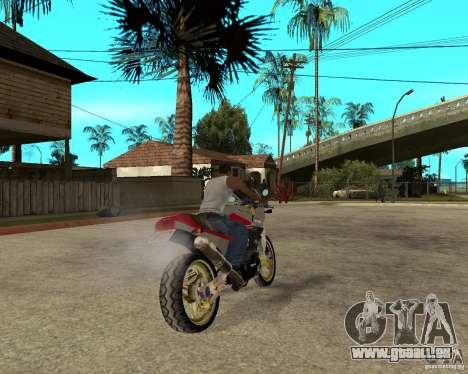 Kawasaki Ninja Tuning pour GTA San Andreas sur la vue arrière gauche