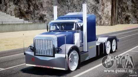 Peterbilt Truck Custom für GTA 4 Rückansicht