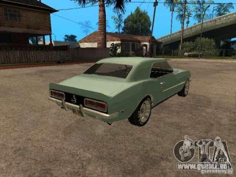 Chevrolet Camaro RS SS 396 pour GTA San Andreas laissé vue
