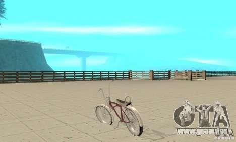 Lowrider Bicycle für GTA San Andreas zurück linke Ansicht