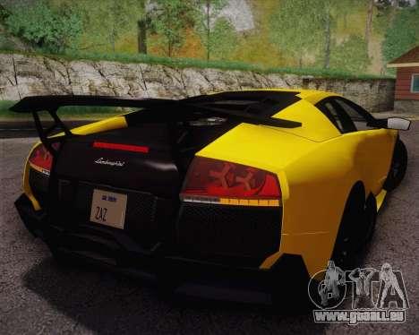Lamborghini Murcielago LP 670/4 SV Fixed Version pour GTA San Andreas laissé vue