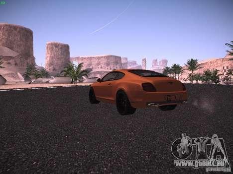 Bentley Continetal SS Dubai Gold Edition für GTA San Andreas rechten Ansicht