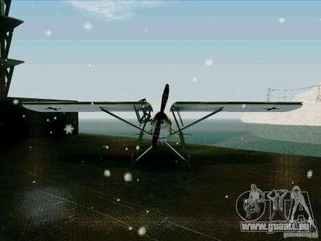 Fi-156 pour GTA San Andreas vue arrière