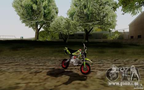 Kawasaki 50cc Pocket Factory Bike für GTA San Andreas linke Ansicht