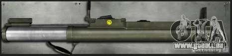M72 LAW-Bazooka pour GTA San Andreas deuxième écran