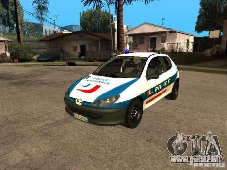 Peugeot 206 Police pour GTA San Andreas