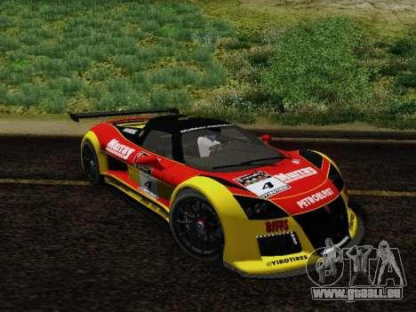 Gumpert Apollo S 2012 pour GTA San Andreas vue de dessous