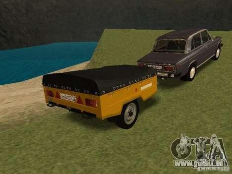 MAZ-8114-Kalb für GTA San Andreas zurück linke Ansicht