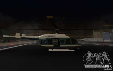 GTA IV Police Maverick pour GTA San Andreas sur la vue arrière gauche