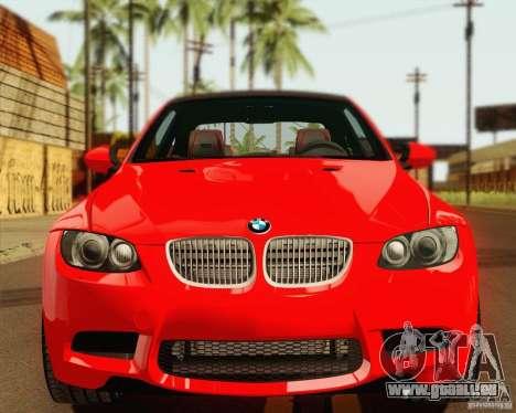BMW M3 E92 v2.0 pour GTA San Andreas vue arrière