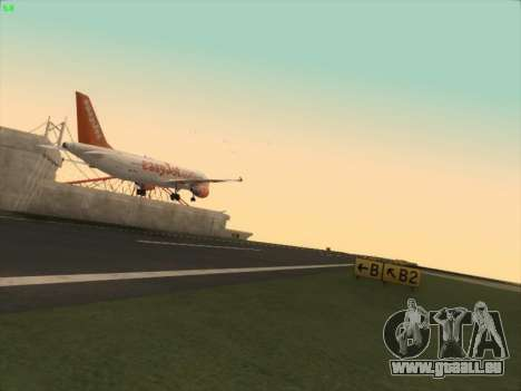 Airbus A320-214 EasyJet pour GTA San Andreas vue arrière