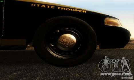 Ford Crown Victoria Maryland Police für GTA San Andreas rechten Ansicht