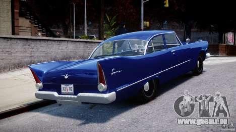 Plymouth Savoy Club Sedan 1957 für GTA 4 Seitenansicht