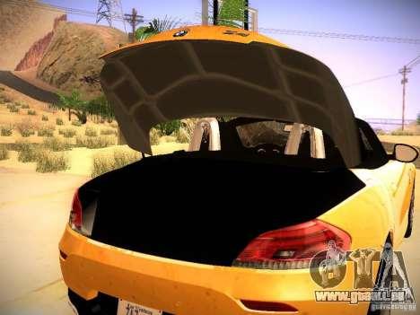 BMW Z4 sDrive28i 2012 pour GTA San Andreas vue de côté