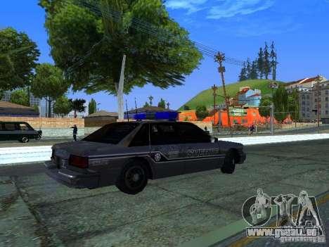 Lumpkin Country Sheriffs Office pour GTA San Andreas vue de droite