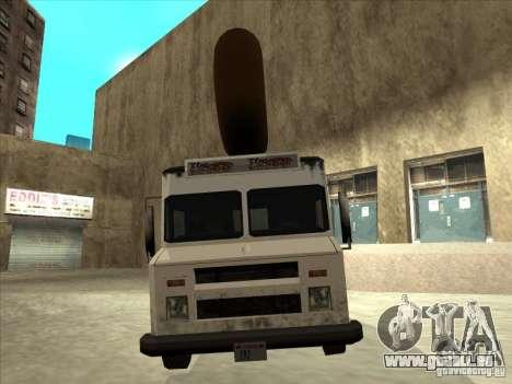 Donut Van pour GTA San Andreas vue de droite