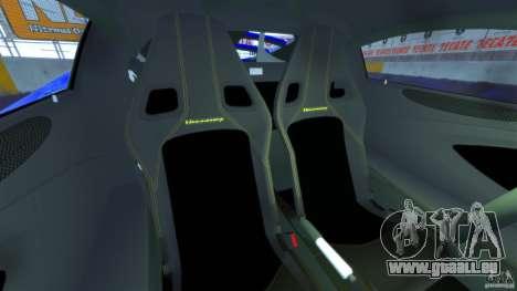 Hennessey Venom GT 2010 [EPM] pour GTA 4 est une vue de l'intérieur