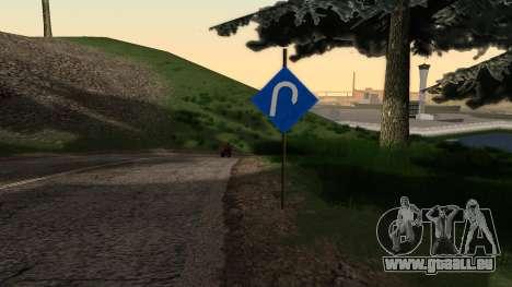 Nouvelle signalisation pour GTA San Andreas deuxième écran