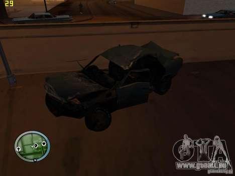 Voitures accidentées sur Grove Street pour GTA San Andreas septième écran