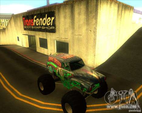 Grave Digger für GTA San Andreas Rückansicht