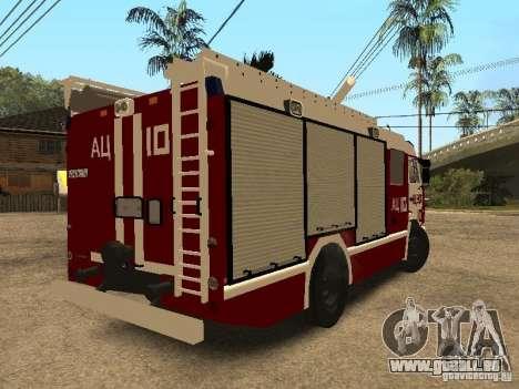 KAMAZ 43253 Rozenbauer pour GTA San Andreas sur la vue arrière gauche
