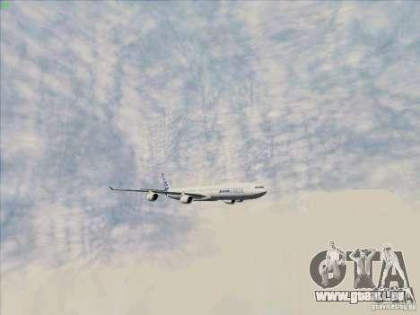 Airbus A-340-600 pour GTA San Andreas vue de côté