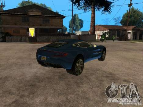 Aston Martin One77 für GTA San Andreas rechten Ansicht