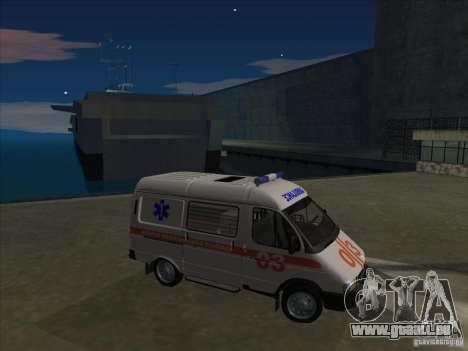 GAZ 22172 ambulance pour GTA San Andreas vue de côté