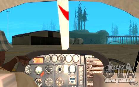 AS-350 TV pour GTA San Andreas vue arrière