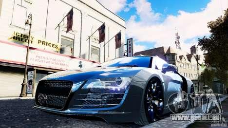 Audi R8 Spider 2011 für GTA 4 obere Ansicht