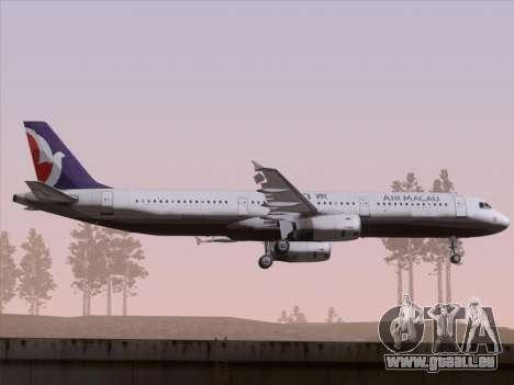 Airbus A321 Air Macau für GTA San Andreas Rückansicht