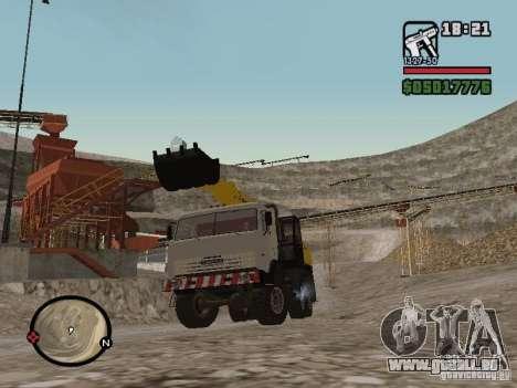 KAMAZ UDS pour GTA San Andreas sur la vue arrière gauche