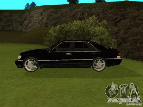Mercedes-Benz 600 W140 pour GTA San Andreas laissé vue