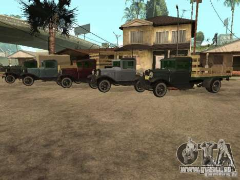 FORD AA pour GTA San Andreas vue intérieure
