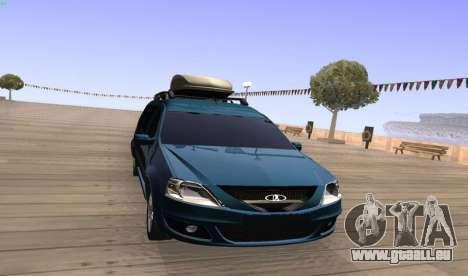 Lada Largus pour GTA San Andreas laissé vue