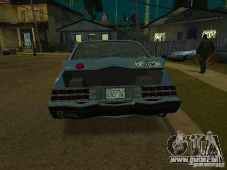 Les taxis romains de GTA4 pour GTA San Andreas laissé vue