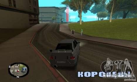 Courses de rue pour GTA San Andreas quatrième écran