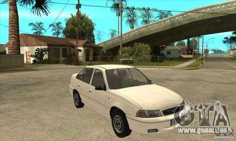 Daewoo Nexia für GTA San Andreas Rückansicht