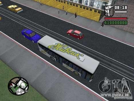 LAZ InterLAZ 12 pour GTA San Andreas sur la vue arrière gauche