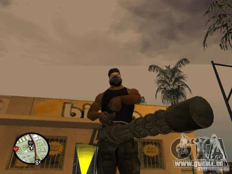 M134 Minigun aus CoD: Mw2 für GTA San Andreas dritten Screenshot