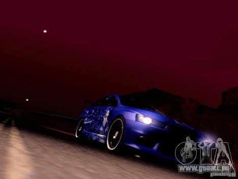 Mitsubishi Lancer EVO X Juiced2 HIN pour GTA San Andreas vue de dessus