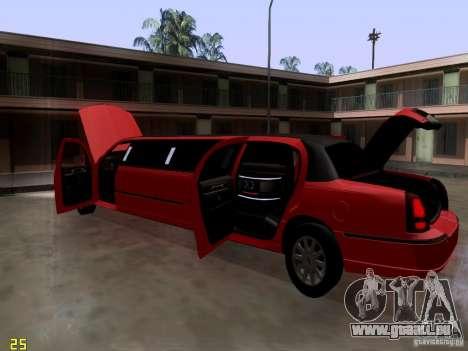 Lincoln Towncar 2010 pour GTA San Andreas vue de côté