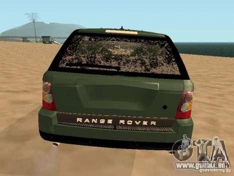 Land Rover Range Rover Sport für GTA San Andreas obere Ansicht